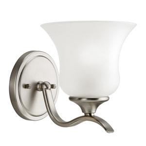 Wedgeport Brushed Nickel 7-Inch One-Light Energy Star Wall Sconce
