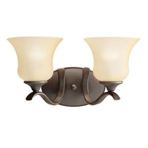 Wedgeport Olde Bronze 15-Inch Energy Star Two-Arm Bath Light