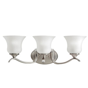 Wedgeport Brushed Nickel Three-Light Bath Fixture