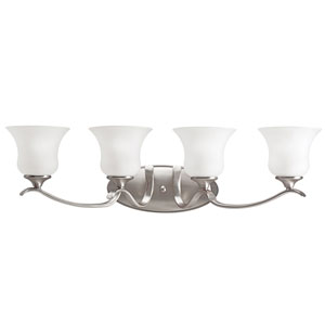 Keiran Brushed Nickel 32-Inch Energy Star Four-Arm Bath Light