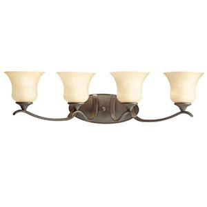 Wedgeport Olde Bronze 32-Inch Energy Star Four-Arm Bath Light