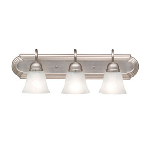 Three-Light Brushed Nickel Wall Sconce