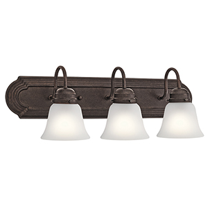 Tannery Bronze 24-Inch Three-Light Bath Light
