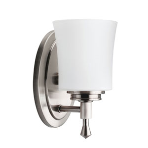 Wharton Brushed Nickel One-Light Bath Fixture