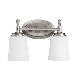 Wharton Brushed Nickel Two-Light Bath Fixture
