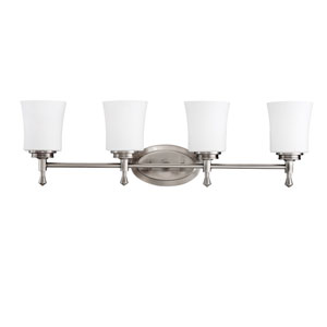 Wharton Brushed Nickel Four-Light Bath Fixture