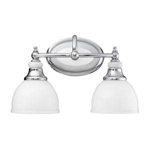 Pocelona Chrome Two-Light Bath Fixture