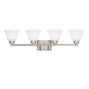 Langford Four-Light Brushed Nickel Bath Fixture