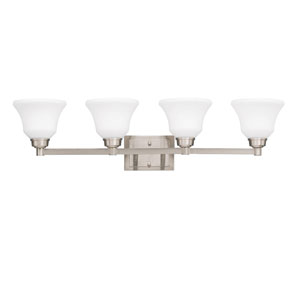 Langford Brushed Nickel 35-Inch Energy Star Four-Arm Bath Light