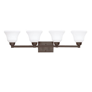 Langford Olde Bronze 35-Inch Energy Star Four-Arm Bath Light