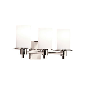 Cylinders Polished Nickel Three-Light Wall Sconce