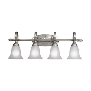 Willowmore Brushed Nickel Four-Light Bath Fixture