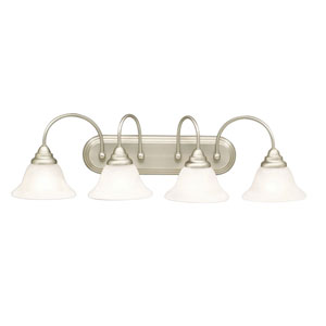 Telford Brushed Nickel Four-Light Bath Fixture