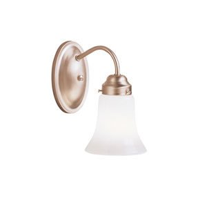 Brushed Nickel Single-Light Wall Sconce