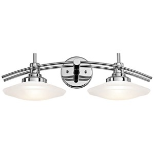 Structures Chrome Two-Light Bath Vanity Fixture