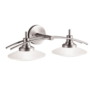 Structures Brushed Nickel Two-Light Bath Fixture
