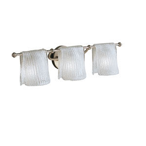Drapes Brushed Nickel Three-Light Bath Fixture