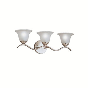 Dover Brushed Nickel Three-Light Bath Fixture