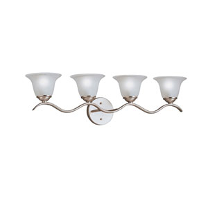 Dover Brushed Nickel Four-Light Bath Fixture