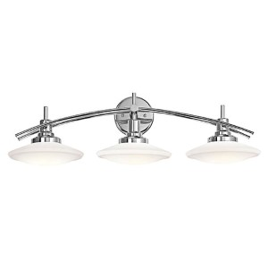 Structures Chrome Three-Light Bath Vanity Fixture