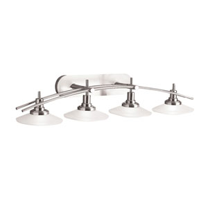 Brushed Nickel Four-Light Wall Sconce