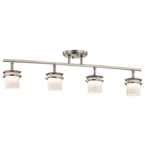 Hendrik Brushed Nickel Four-Light Rail Light