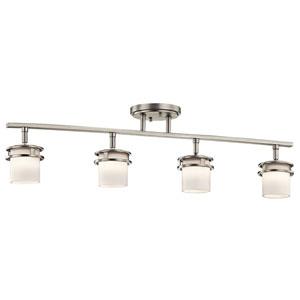 Hendrik Brushed Nickel Four-Light Rail Light
