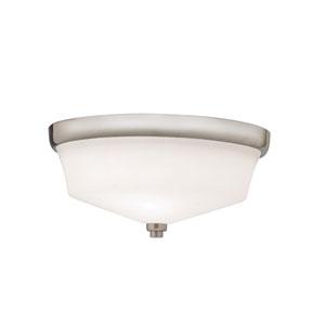 Langford Brushed Nickel Flush Ceiling Light