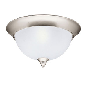 Dover Brushed Nickel Large Flush Ceiling Light