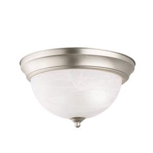 Brushed Nickel Flush-Mount Ceiling Light
