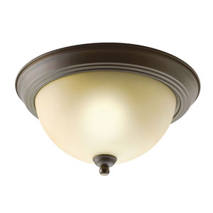 Olde Bronze Two-Light Flush Mount