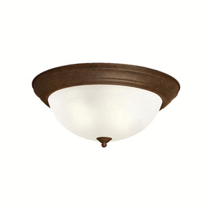Tannery Bronze Flush-Mount Ceiling Light