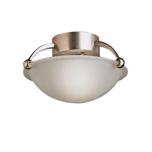 Brushed Nickel Small Semi-Flush Ceiling Light