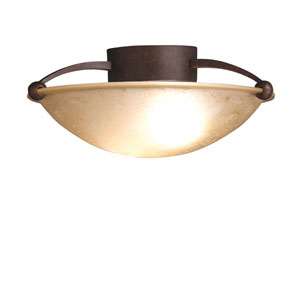Tannery Bronze Medium Semi-Flush Ceiling Light