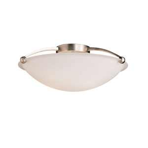 Brushed Nickel Extra-Large Semi-Flush Ceiling Light