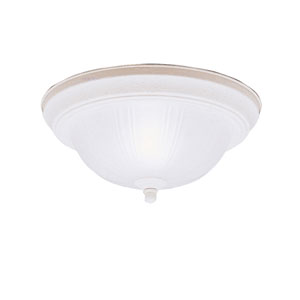 Stucco White Flush Mount Ceiling Light