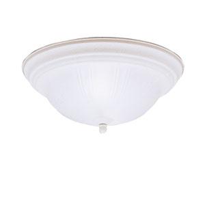 Stucco White Flush Mount Ceiling Light