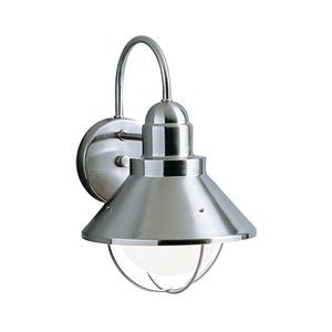 Seaside Brushed Nickel Dark Sky Outdoor Wall Light