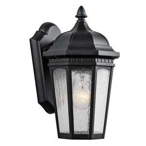 Courtyard Textured Black One-Light Six-Inch Outdoor Wall Sconce