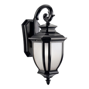 Salisbury Black Outdoor Wall-Mount Lantern