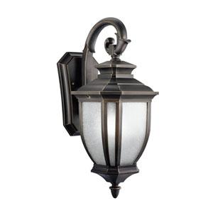 Salisbury Rubbed Bronze Outdoor Wall-Mount Lantern