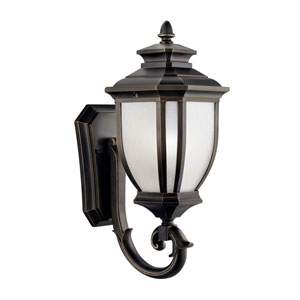 Salisbury Rubbed Bronze Outdoor Wall-Mount Lantern