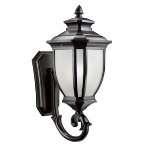 Salisbury Black Outdoor Wall-Mount Lantern