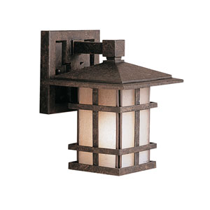 Cross Creek Extra-Small Aged Bronze Outdoor Wall Mount