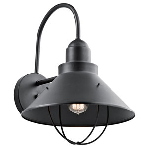 Seaside Black One-Light Outdoor Wall Mount