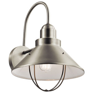 Seaside Brushed Nickel One-Light Outdoor Wall Mount