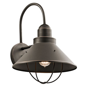 Seaside Olde Bronze One-Light Outdoor Wall Mount