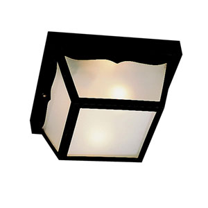Black Polypropylene Outdoor Flush-Mount Light