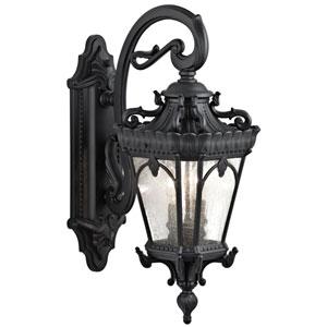 Tournai Two-Light Textured Black Outdoor Wall Lantern