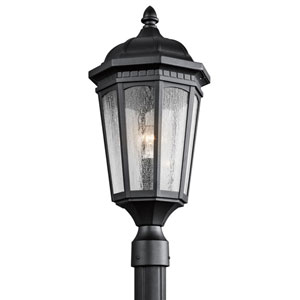 Courtyard One-Light Textured Black Outdoor Post Mount